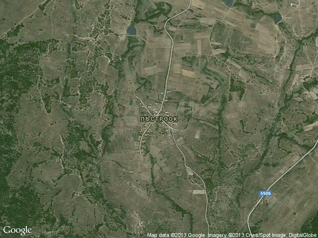 Сателитна карта на Пъстроок