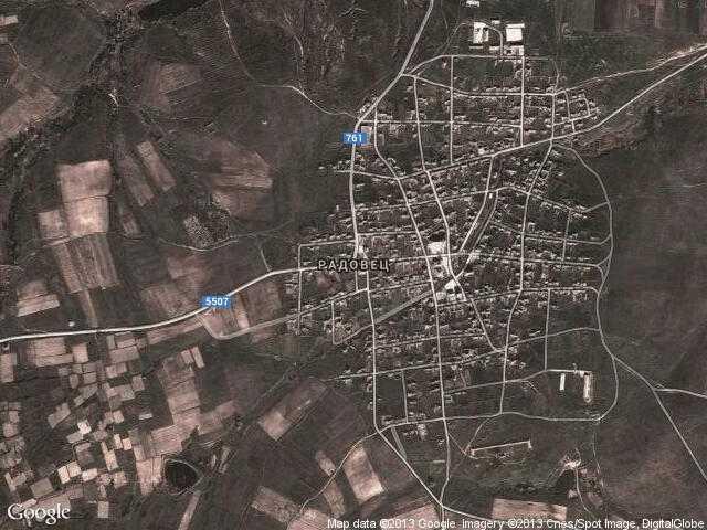Сателитна карта на Радовец