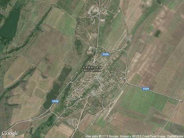 Сателитна карта на Райкова могила