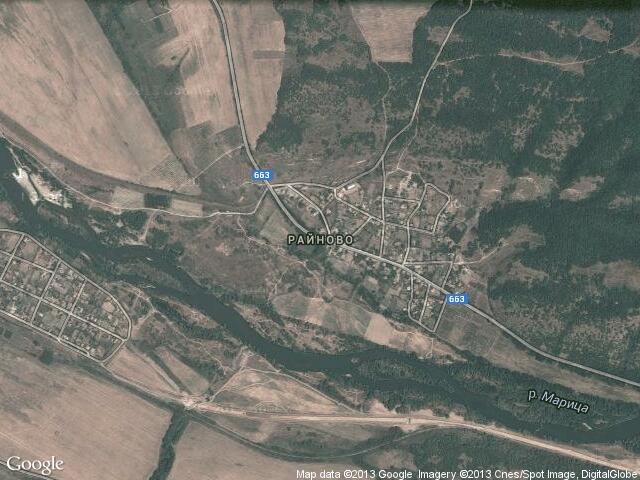 Сателитна карта на Райново