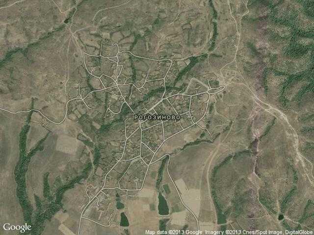 Сателитна карта на Рогозиново