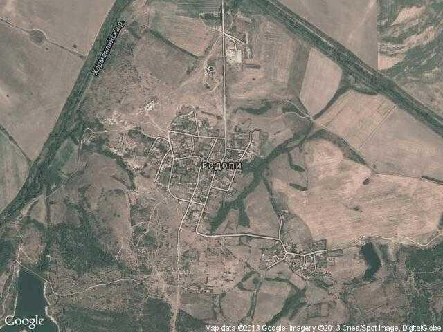 Сателитна карта на Родопи