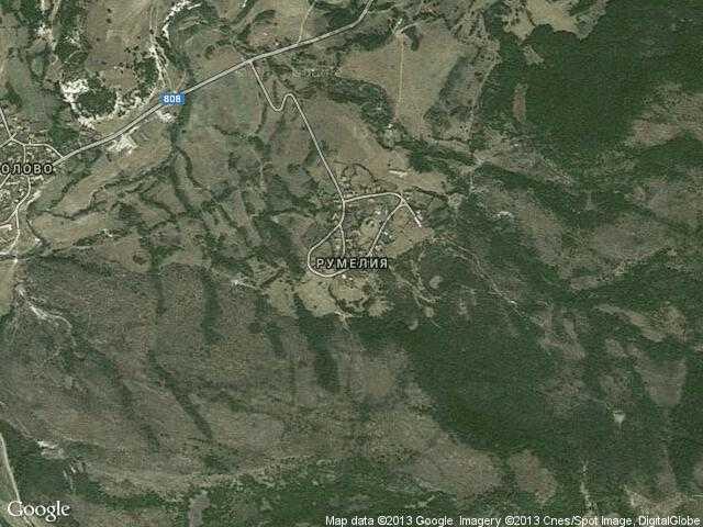Сателитна карта на Румелия