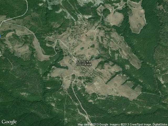 Сателитна карта на Селска поляна