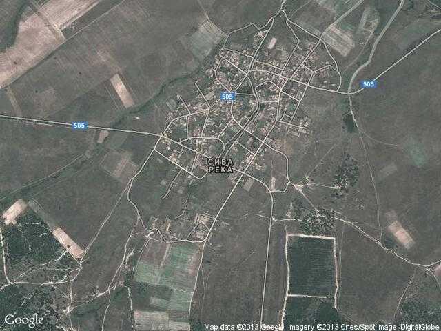 Сателитна карта на Сива река