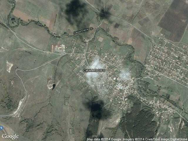 Сателитна карта на Синапово