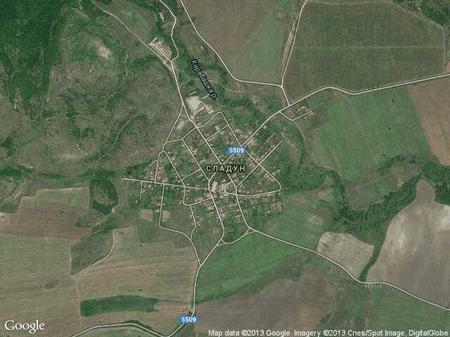 Сателитна карта на Сладун