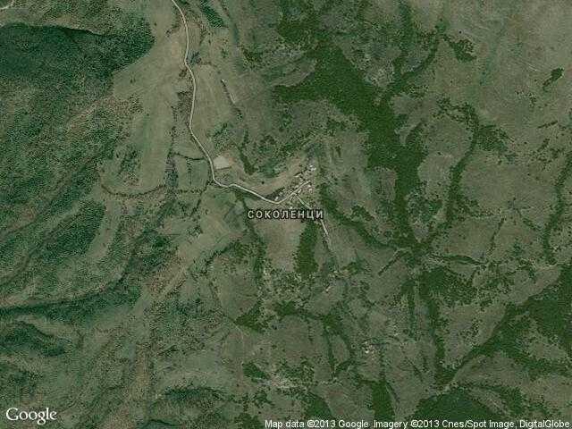 Сателитна карта на Соколенци