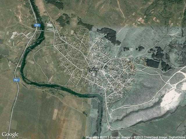Сателитна карта на Срем