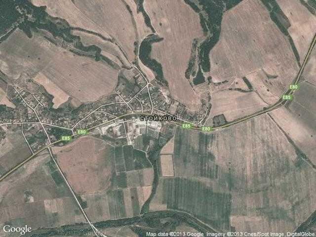 Сателитна карта на Стойково