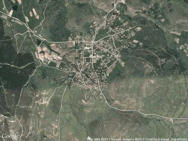 Сателитна карта на Сърница