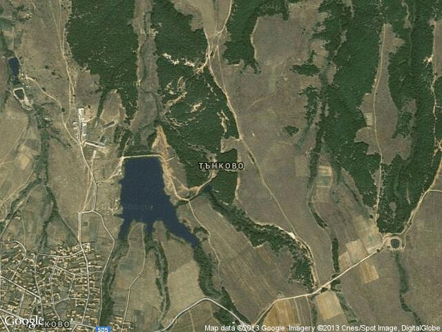 Сателитна карта на Тънково