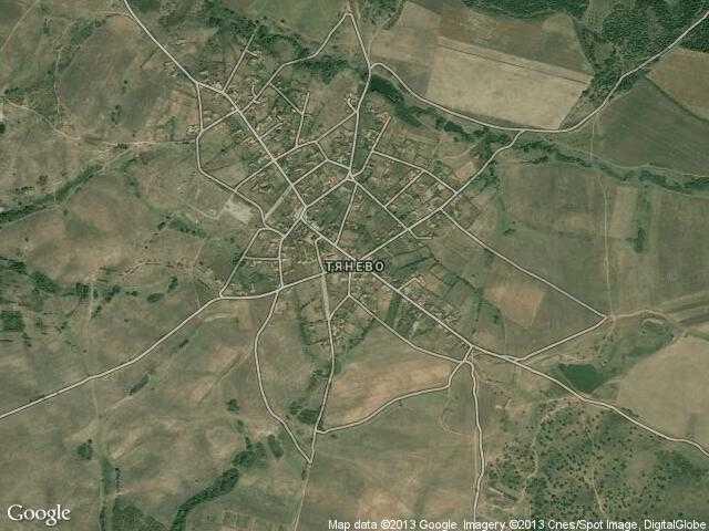 Сателитна карта на Тянево