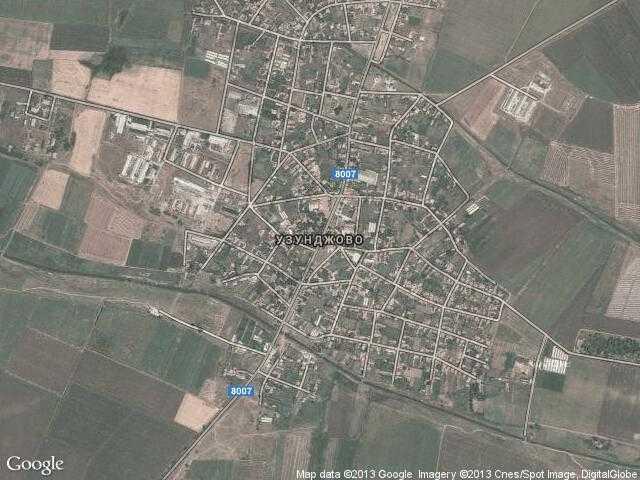 Сателитна карта на Узунджово