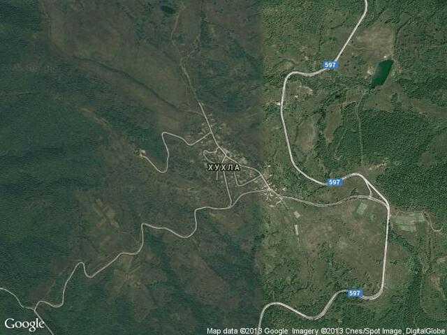 Сателитна карта на Хухла