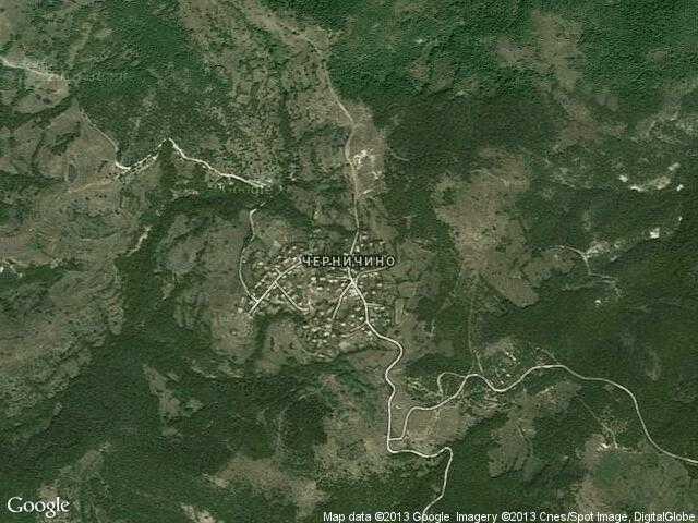 Сателитна карта на Черничино