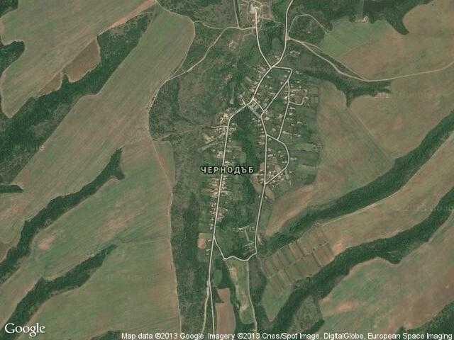 Сателитна карта на Чернодъб
