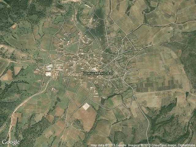 Сателитна карта на Шишманово