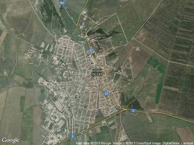 Сателитна карта на Нови пазар