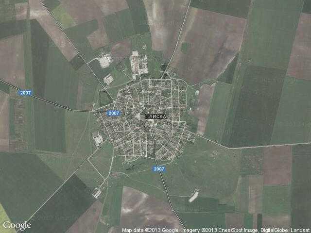 Сателитна карта на Плиска
