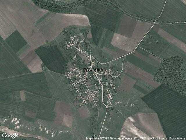Сателитна карта на Байково