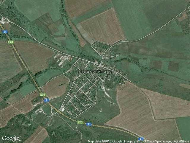 Сателитна карта на Белокопитово