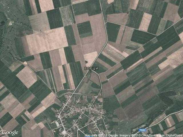Сателитна карта на Борци