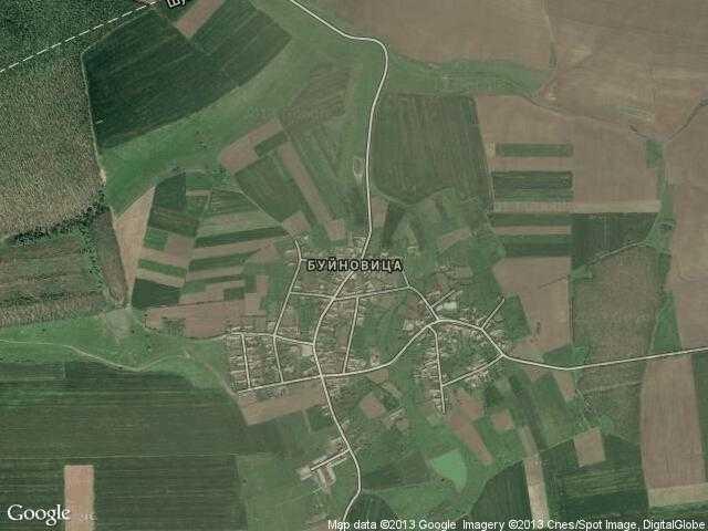 Сателитна карта на Буйновица