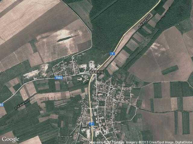 Сателитна карта на Венец