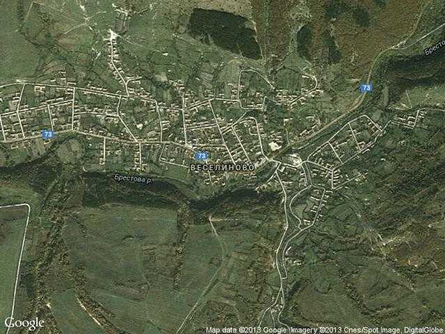 Сателитна карта на Веселиново
