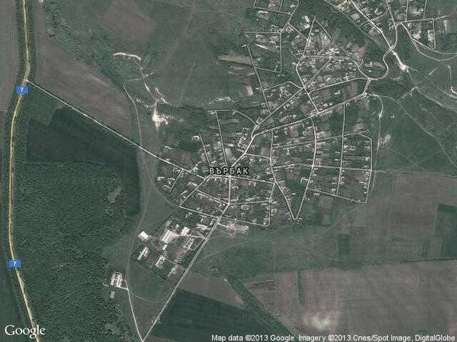 Сателитна карта на Върбак