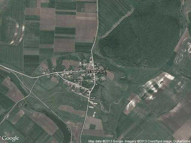 Сателитна карта на Денница