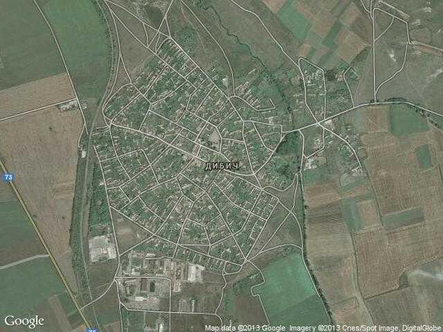 Сателитна карта на Дибич