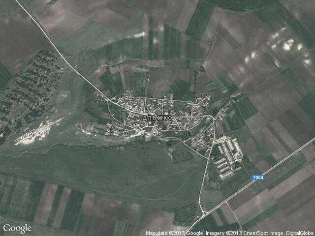 Сателитна карта на Длъжко
