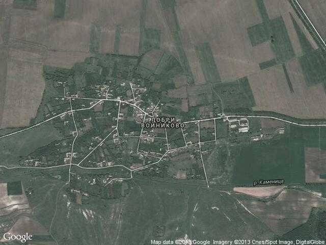 Сателитна карта на Добри Войниково