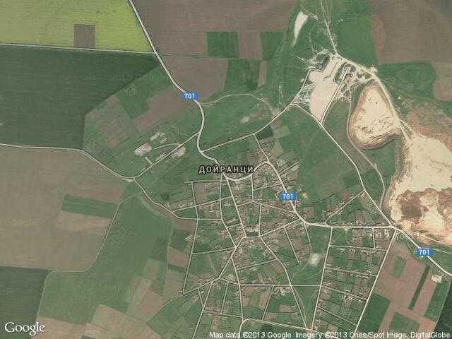 Сателитна карта на Дойранци