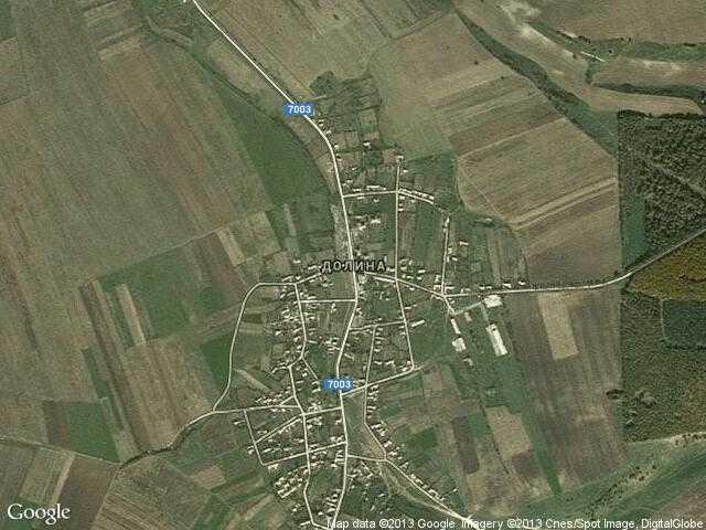 Сателитна карта на Долина