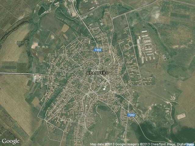 Сателитна карта на Драгоево