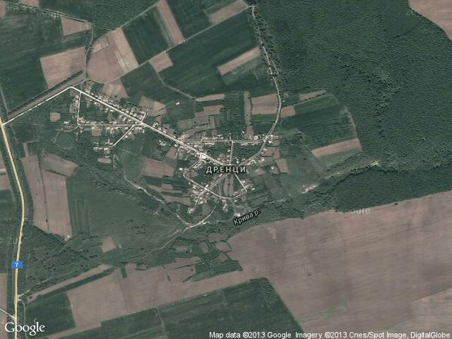 Сателитна карта на Дренци