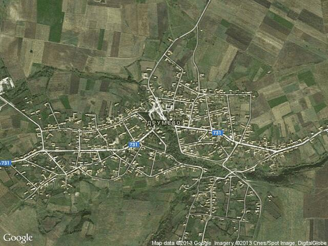 Сателитна карта на Друмево