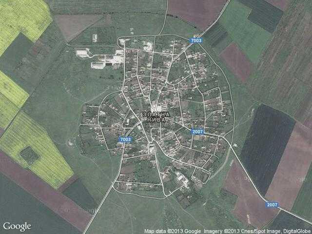 Сателитна карта на Златна нива