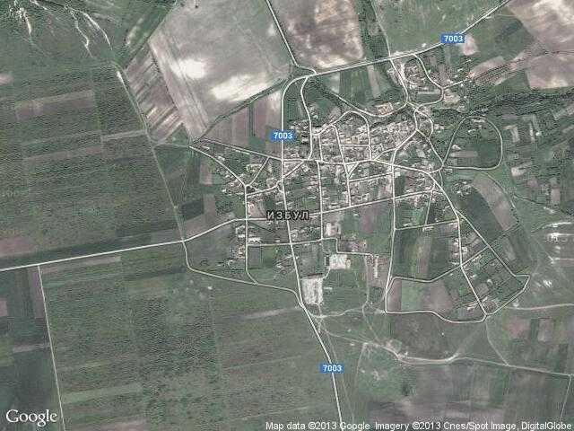 Сателитна карта на Избул