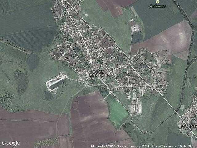 Сателитна карта на Илия Блъсково