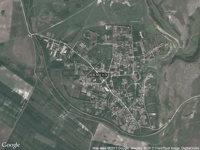 Сателитна карта на Каменяк