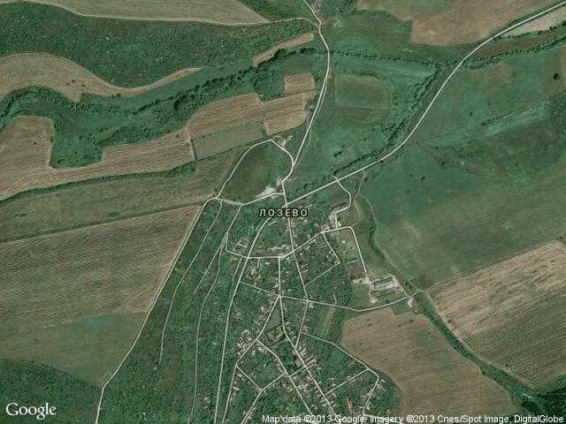 Сателитна карта на Лозево