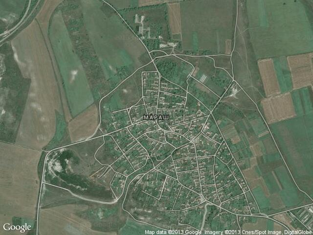 Сателитна карта на Мараш