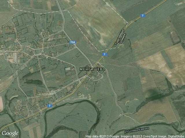 Сателитна карта на Менгишево