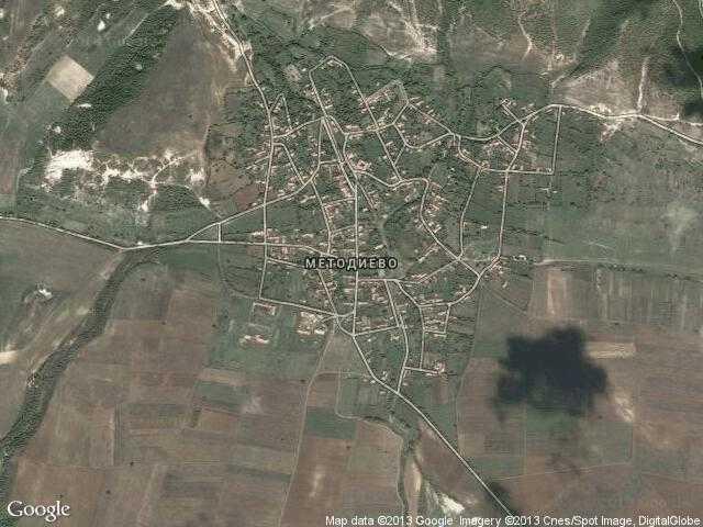 Сателитна карта на Методиево
