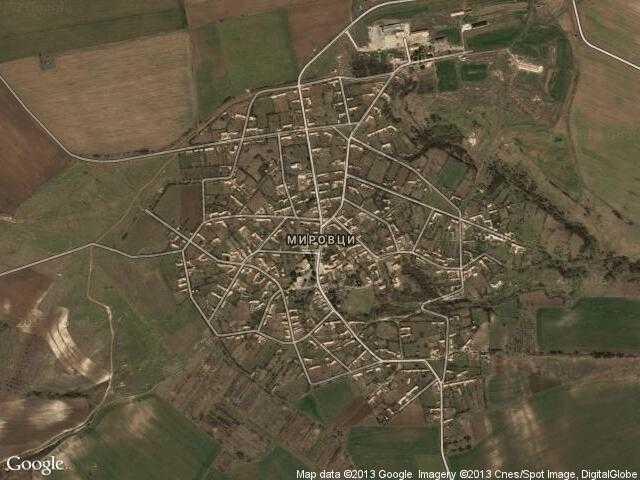 Сателитна карта на Мировци