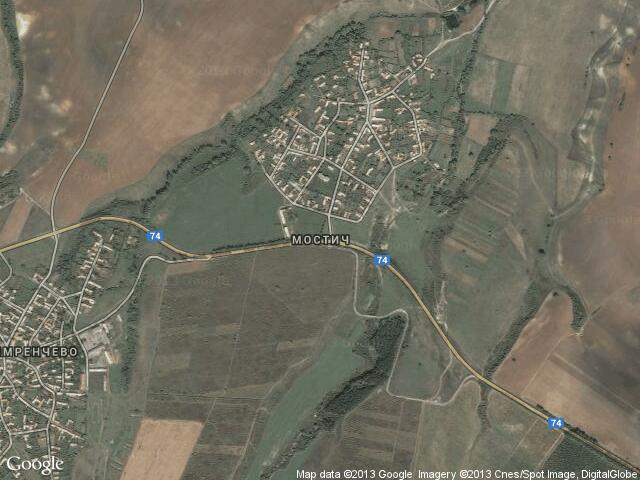Сателитна карта на Мостич